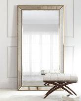 Aldina Golden-Beaded Floor Mirror