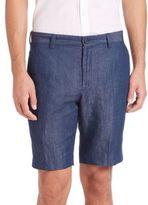 John Varvatos Slim-Fit Cotton & Linen Shorts