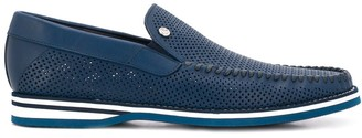 Baldinini Perforated Slip-On Loafers