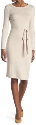 Bailey Blue Self Belt Sweater Knit Dress