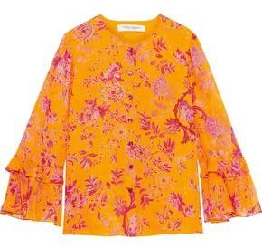Carolina Herrera Floral-print Silk-georgette Blouse