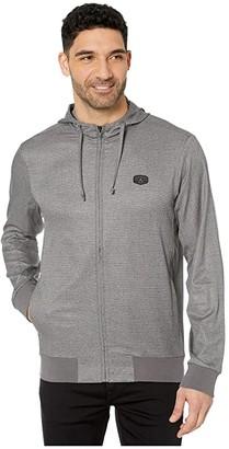 Travis Mathew Modus Operandi Jacket (Heather Grey Pinstripe) Men's Clothing