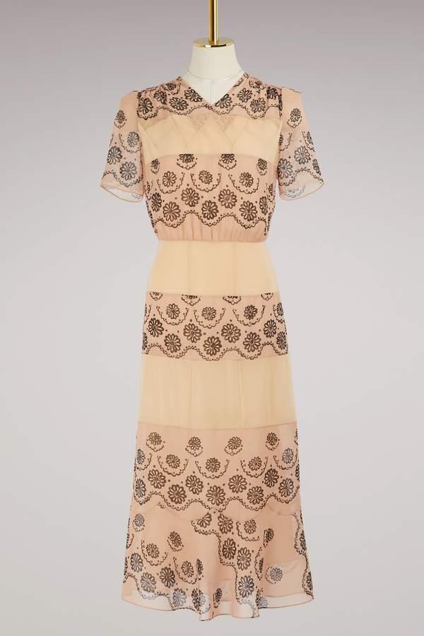 Maison Margiela Printed silk dress