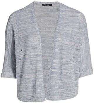 NIC+ZOE, Plus Size Calm Waters Dropstitch Knit Cardigan