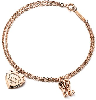 Tiffany & Co. Return to TiffanyTM Love heart tag key bracelet in 18k rose gold, medium