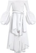 Caroline Constas Kleo off-the-shoulder cotton-blend dress