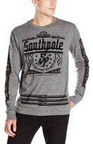 Southpole Men's Long Sleeve Tee in Solid Marled Color with Logo on Chest and Arms