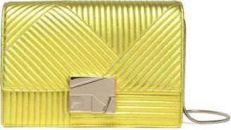 Roger Vivier Metallic Matelasse Leather Clutch