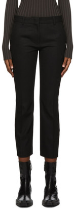 Rokh Black Wool Tailored Trousers