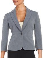 Nipon Boutique Textured One-Button Blazer