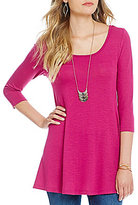 Soulmates 3/4 Sleeve Knit Necklace Top
