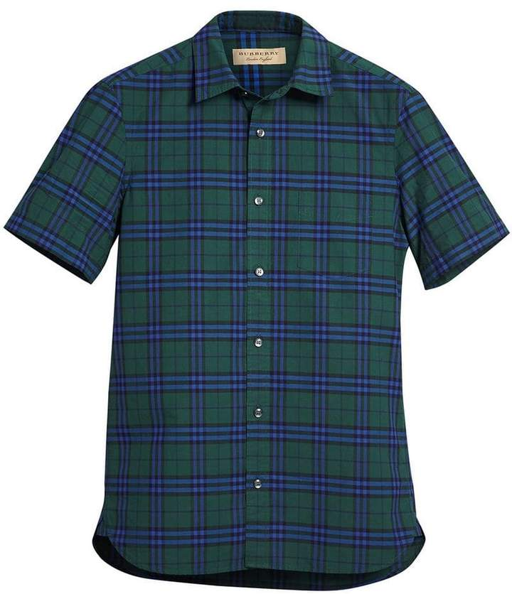 Burberry short-sleeve check shirt