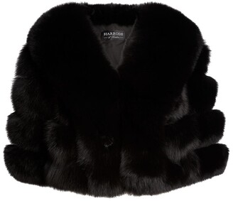 Harrods Fox Fur Cropped Cape