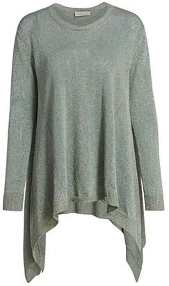 Etro Asymmetric Lurex Knit Sweater
