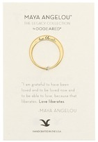 Dogeared 14K Gold Plated Sterling Silver Love Liberates Ring - Size 5