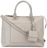 Prada logo plaque tote - women - Calf Leather - One Size