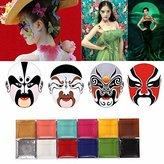 LuckyFine Face Body Paint Oil Painting Art MakeUp Palette Set Kit Halloween Party Fancy Dress 12 Color DIY