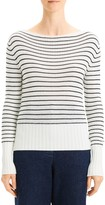 Theory Striped Boatneck Sweater