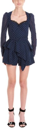 Self-Portrait Polka Dot Playsuit