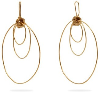 Orit Elhanati - Alice Gold-plated Hoop-drop Earrings - Womens - Gold