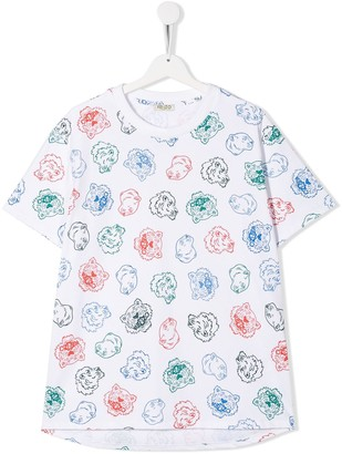 Kenzo Kids Tiger and friends T-shirt