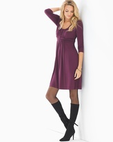 Soma Intimates 3/4 Sleeve Wrapped Waist Short Dress Merlot