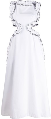 Christopher Kane Frill Cut Out Dress