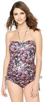 A Pea in the Pod Tie Front Maternity Tankini Swimsuit