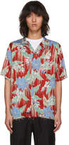 Christian Dada Red Aloha Open Collar Shirt