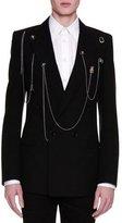 Alexander McQueen Double-Breasted Blazer w/Pins & Chains