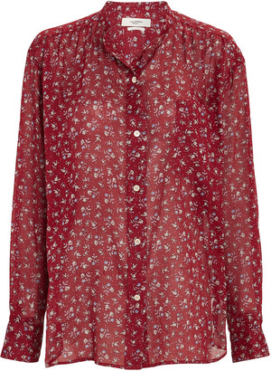 Etoile Isabel Marant Mexika Floral Button-Down Shirt