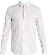 Maison Margiela Pinstriped single-cuff cotton shirt