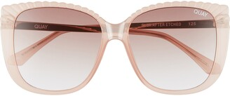 Quay Ever After 58mm Gradient Etched Square Sunglasses