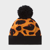 Paul Smith Women's Burnt Orange 'Giraffe' Print Bobble Hat