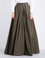 Brunello Cucinelli A-line taffeta maxi skirt