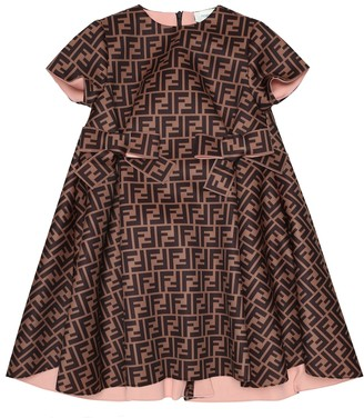 Fendi Kids FF satin dress