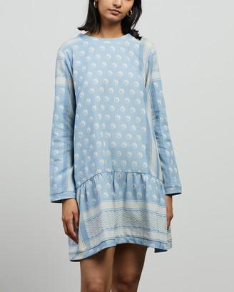 Cecilie Copenhagen Women's Blue Mini Dresses - Dress 2 O LS Yin - Size S at The Iconic