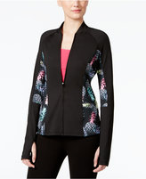 Jessica Simpson The Warm Up Juniors' Pineapple-Print Track Jacket