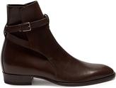 Saint Laurent Buckle-strap leather chelsea boots