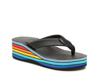 Rainbow Classic Wedge Flip Flop