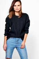 Boohoo Daisy Quilted Sweat Top