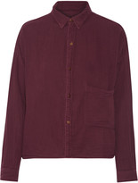 Current/Elliott The Boxy cropped cotton shirt