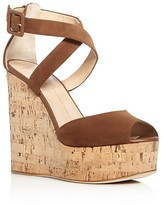 Giuseppe Zanotti Roz Criss Cross Platform Wedge Sandals
