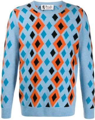 Pringle Reissued abstract diamond jumper