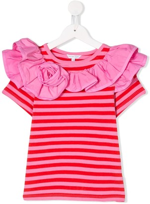 Little Marc Jacobs striped ruffle T-shirt
