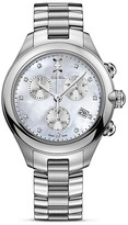 Ebel Onde Stainless Steel Chronograph with Diamonds, 36mm