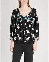 BA&SH Floral print crepe top