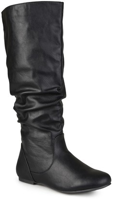 Journee Collection Jayne Ruched Tall Boot - Wide Calf