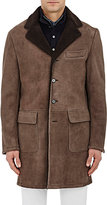 Barneys New York Men's Lamb Shearling Coat-BROWN