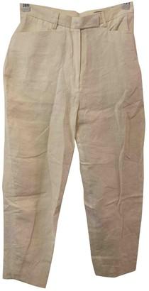 Nicole Farhi Beige Linen Trousers for Women